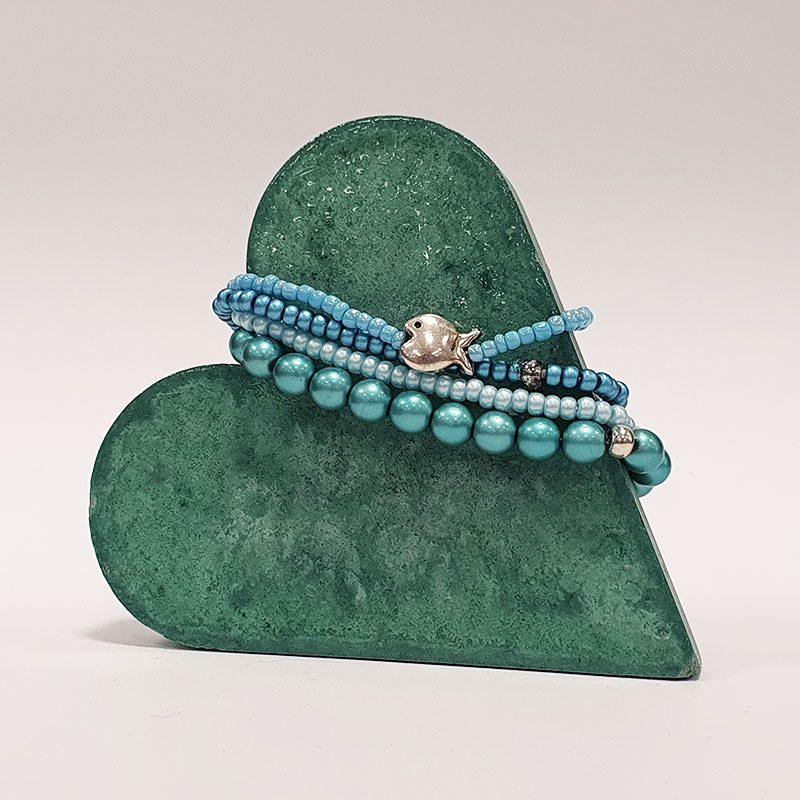 selbstgebastelte Perlen